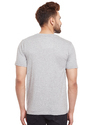 100% Cotton Men Short Sleeve Solid Grey T-Shirt