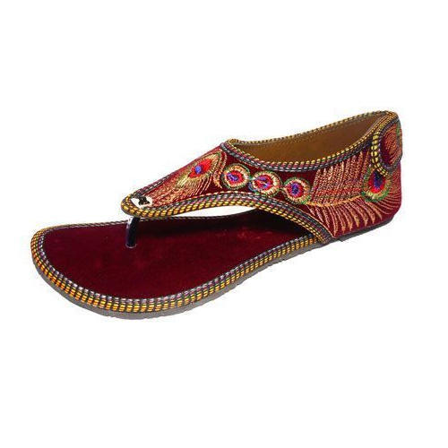 e0abc98e7 Women Canvas Rajasthani Slippers