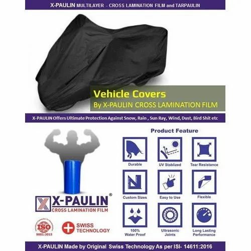 Multi Layered Silnylon Vehicle Covers X-Paulin Cross Lamination Carpaulin, Size: L X W - 6 To 300 Ft, Packaging Type: Bag