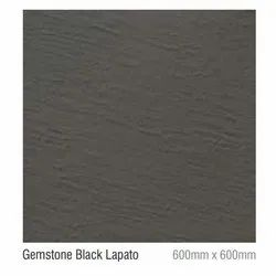 Gemstone Black Lapato Ceramic Floor Tile, Size/Dimension: 600 X 600 mm, Thickness: 16 mm