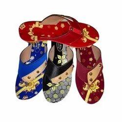 Daily Wear Printed Ladies PU Slippers