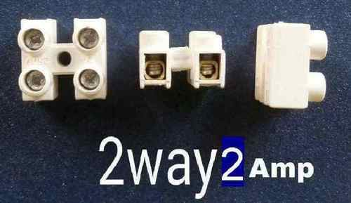 screw type wire connector 2 way 2 amps at rs 0 5 piece rh indiamart com Using Electrical Wire Connectors Small Electrical Wire Connectors
