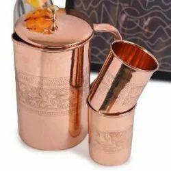 Designer Copper Jug Set