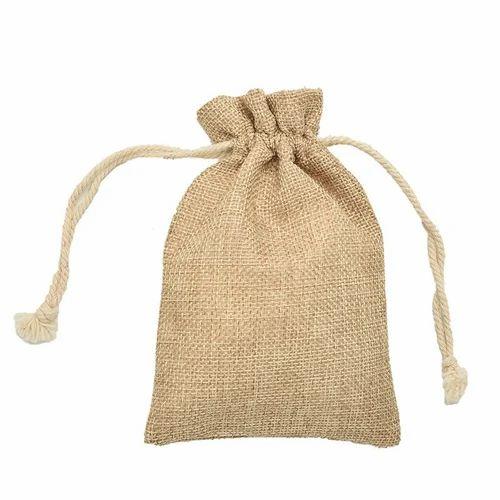 Jute Drawstring Bag at Rs 40  piece  fe7967ecf