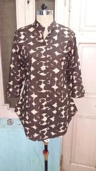 Brown Designer Long Top
