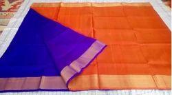 Blue And Orange Uppada Pure Pattu Saree