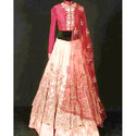 Stitched Wedding Wear Ladies Fashionable Embroidered Lehenga, Dupatta Fabric: Net