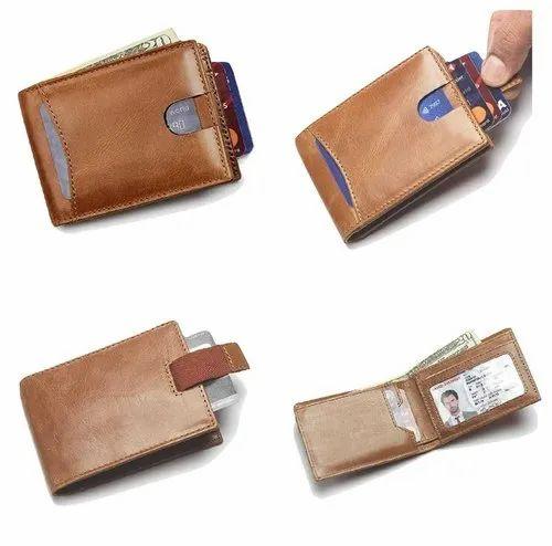 100/% Genuine Leather Bifold Mens Wallet Purse Business Credit Card Holder