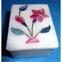 Indian White Makrana Marble  Box