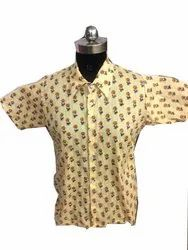 Hand Block Print 100% Cotton Men Shirt
