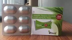 Amoxicillin Potassium Clavulanate And Lactic Acid Bacillus Tablets