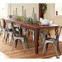 Wooden And Metal Dining Set