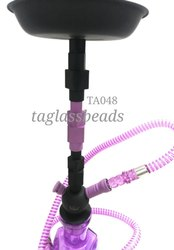 Pink Colour Kasolic Glass Hookahs