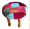 Handmade Velvet Kantha Chowki - Foot Stool