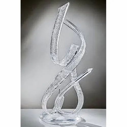 White Acrylic Sculpture,  for Interior Decor