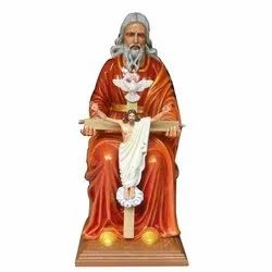 Wooden and Fiber Jesus Statue