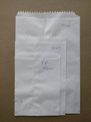 White Plain Paper Grocery Bag(FP) for Packaging
