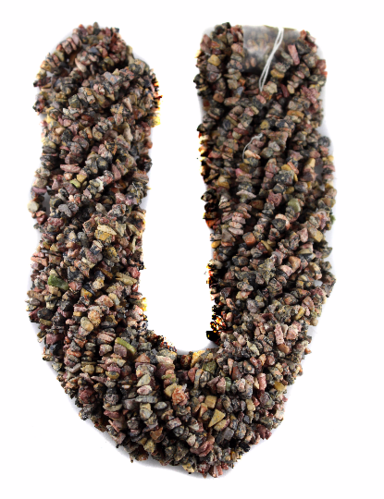 Natural Leopard Uncut Chips Beads, 36 Inches Long Strand