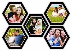 Designer Hexa Pinboard / Photo Collage
