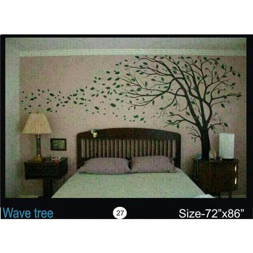 Royal Pattern Vinyl Wave Tree Wallpaper, for Home