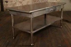 Rectangular SS Kitchen Table