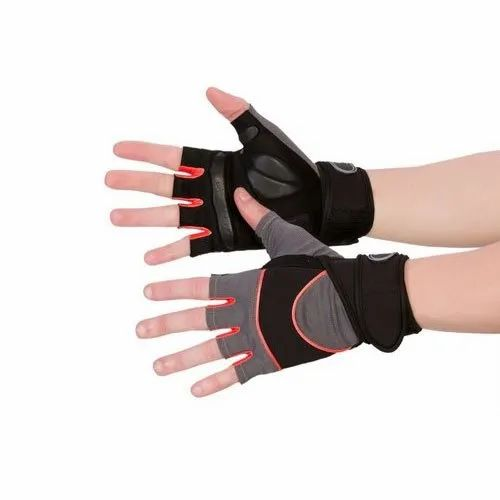 Half Finger Black Sports Hand Gloves, Size: Small, Rs 3500 /pair   ID: 20727464097