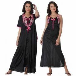 Plain Full Length Ladies Stylish Nighty