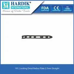 Locking Distal Radius Plate 2.7mm Straight