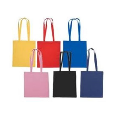 Green Bag Handled Dyed Cotton Bags
