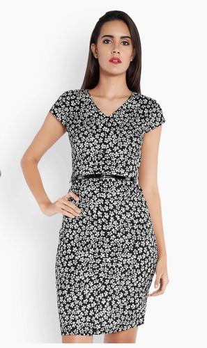 Park avenue woman black floral print regular fit dress at rs 1499 park avenue woman black floral print regular fit dress mightylinksfo