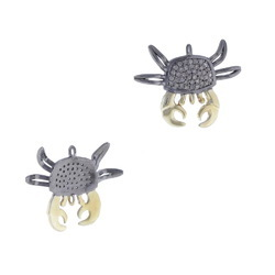 Pave Diamond Crab Pendant