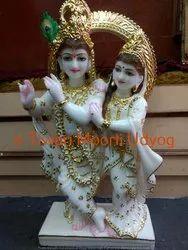 Marble Standing Krishna Statue