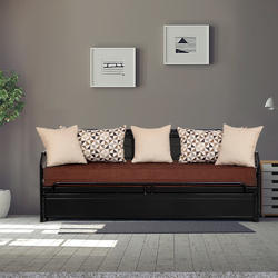 Black Three Seater Sofa Dimension 75 X 24 Inch
