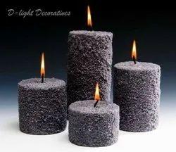 Pillar Candles (Snowy)