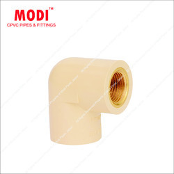 CPVC Reducer Brass Elbow, Size: 1 x 1/2 & 3/4 x 1/2 inch