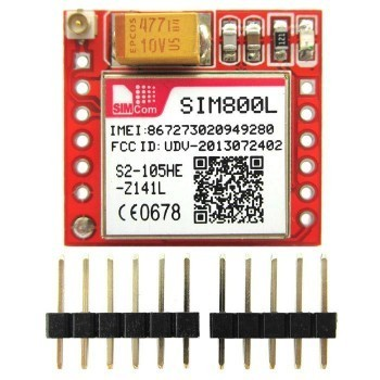SIM800L GPRS GSM Module Core Board Quad-band TTL Serial Port with the antenna