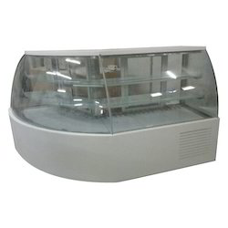 3 Shelf Curved Glass Display Counter