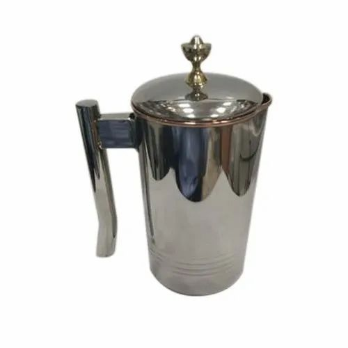 Aakriti Copper SS Platinum Jug, Capacity: 1 Liter, for Home