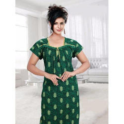 Ladies Printed Night Gown, Size: XL
