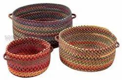 White SGE Jute Baskets