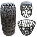 Stacking Plastic Stool, Stacking Chair- Brown
