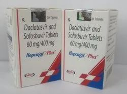 Hepcinat Plus 60mg/400mg Tablet, Daclatasvir (60mg)   Sofosbuvir (400mg)