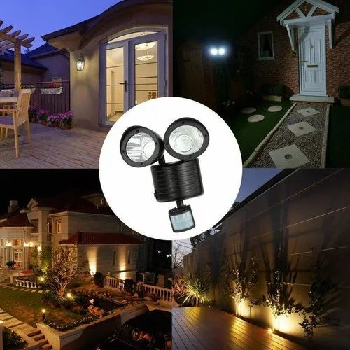 Solar Lights 22 Leds Wall Mounted, Outdoor House Led Lights With Motion Sensor