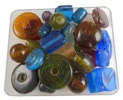 Eshoppee 1kg Multicolor Plain Furnace Glass Beads
