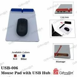 Mouse Pad with USB Hub and Stationery Storage