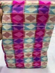 Printed Check Jari Checks Pure Ikkat Silk Fabric, for Skirt, GSM: 100-150 Gsm