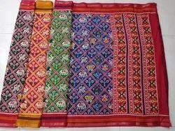 Kota Check Silk Sari