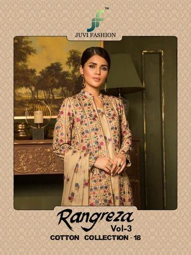 d34af4bbc8 Juvi Fashion Rangreza Vol 3 Series 24001 To 24006 Cambric Cotton  Embroidered Pakistani Sui