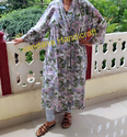 Women's Lovely Floral Printed Bathrobe