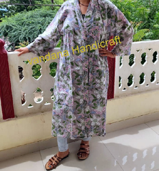 Printed Bathrobe For Women